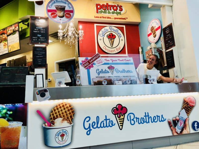 PETROS Gelato Brothers stand West Town Mall - Knoxville