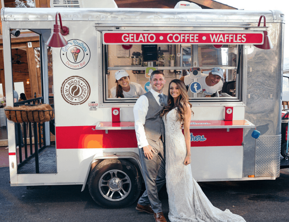 Coffee Wedding cake option - Gelato and Coffee Knoxville Food Truck
